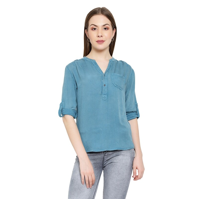 Wash EffectsRayon  Top