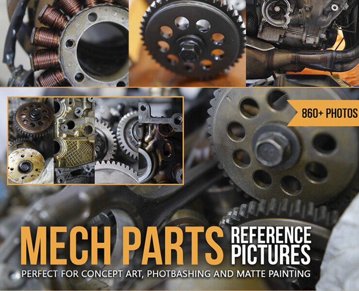 860+ Mech Parts Reference Pictures