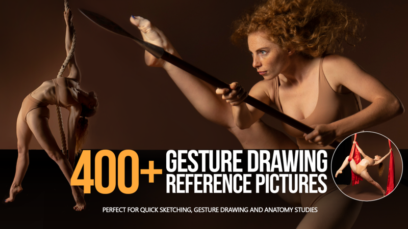 400+ Female gesture drawing reference pictures for artists