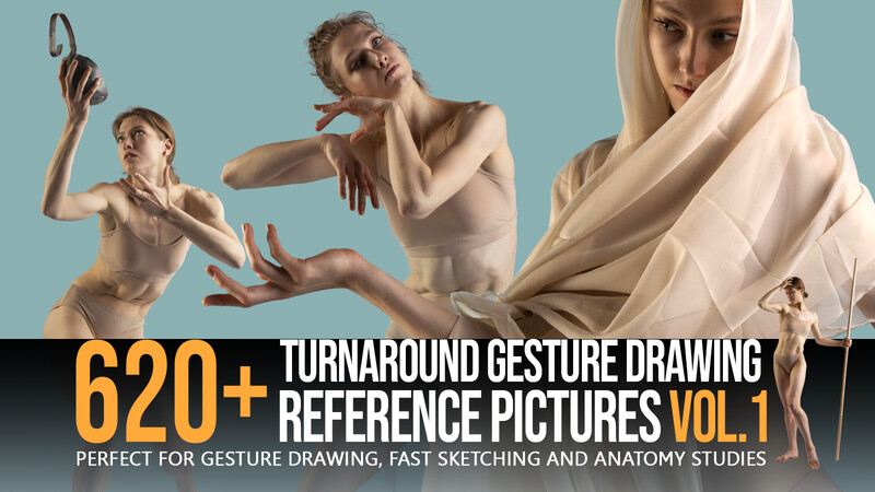 620 + Turnaround Gesture Drawing Pictures