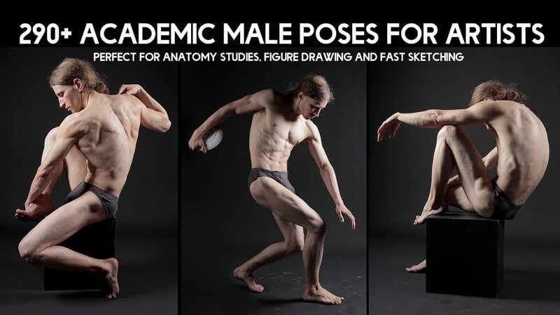 290+ Academic Male Pose Reference Pictures for Artists