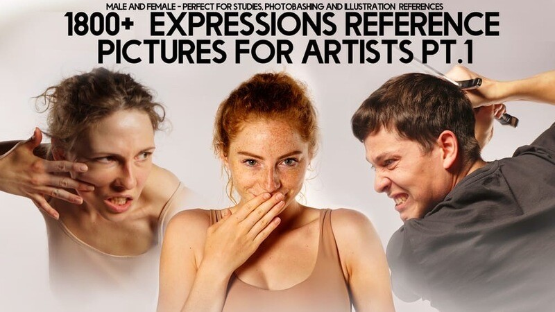 1800+ Expressions Reference Pack for artists