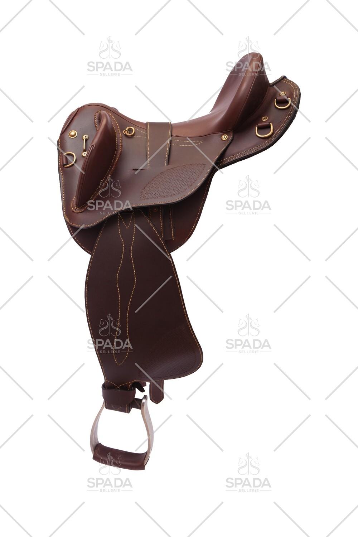 Mitica sella Stock Australiana SAYTHON Half Breed Polocrosse Cod. 3247  Trasporto e assicurazione INCLUSO