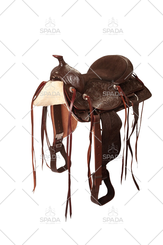 Sella Western FENDER Saddle con arcione in fibra di vetro  Cod. USA 1222   Trasporto e assicurazione INCLUSO