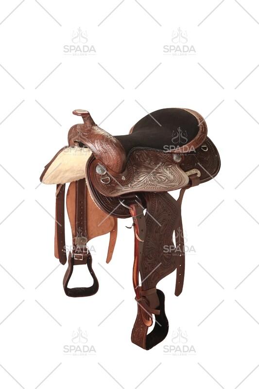 Sella Western FENDER Saddle con arcione in fibra di vetro Cod. USA 1217 Trasporto e assicurazione INCLUSO