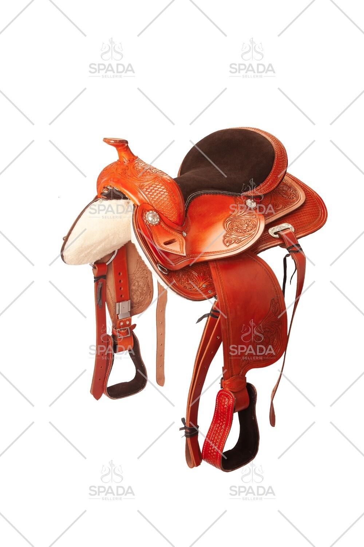 Sella Western FENDER Saddle con arcione in fibra di vetro Cod. USA 1235 Trasporto e assicurazione INCLUSO