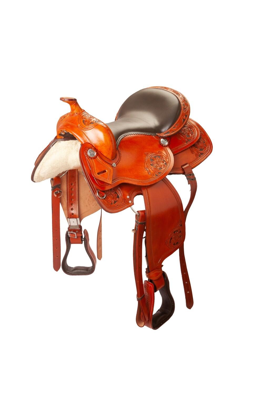 Sella Western FENDER Saddle con arcione in fibra di vetro Cod. usa 1231 Trasporto e assicurazione INCLUSO