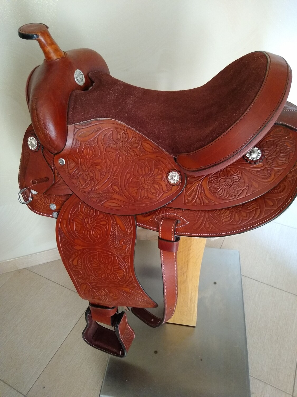 Sella Western FENDER Saddle con arcione in fibra di vetro Cod. USA 227 consegna a domicilio e assicurazione INCLUSO