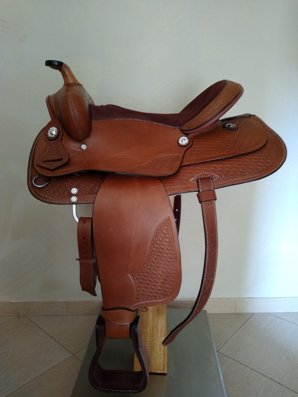 Sella Western FENDER Saddle con arcione in fibra di vetro Cod. USA 224 consegna a domicilio e assicurazione INCLUSO