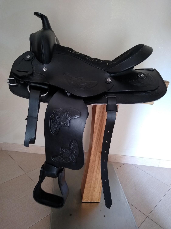 Sella Western FENDER Saddle con arcione in fibra di vetro Cod. USA 225 consegna a domicilio e assicurazione INCLUSO