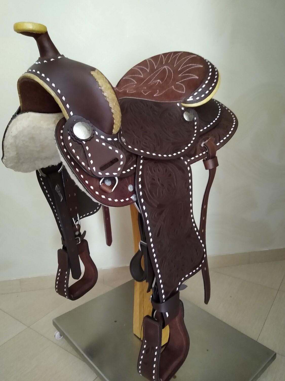 Sella Western FENDER Saddle con arcione in fibra di vetro Cod. USA 222 consegna a domicilio e assicurazione INCLUSO