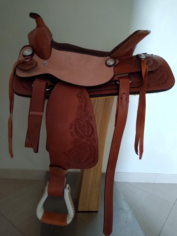 Sella Western FENDER Saddle con arcione in fibra di vetro Cod. USA 1208  Trasporto e assicurazione INCLUSO