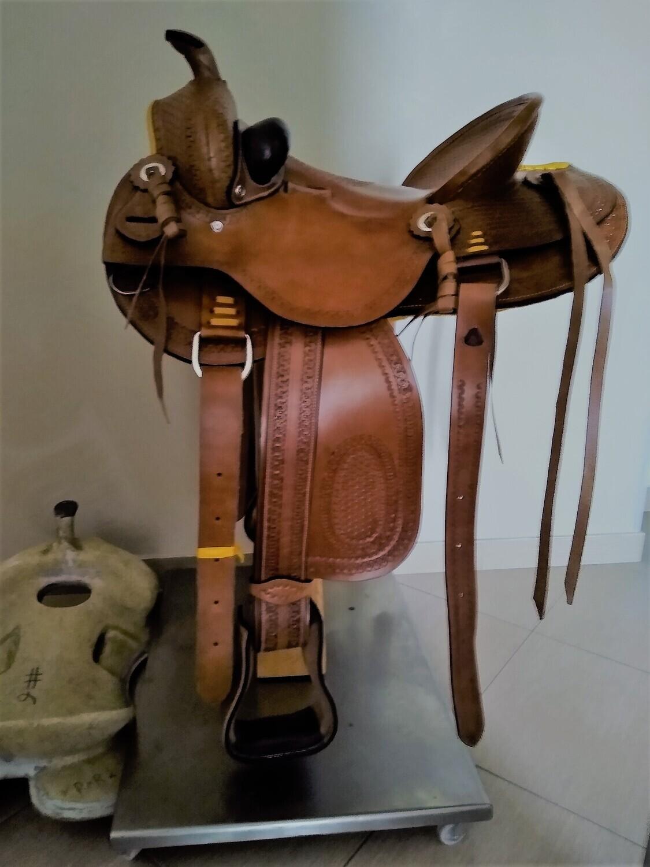 Sella Western FENDER Saddle con arcione in fibra di vetro Cod. USA 0899 De Luxe