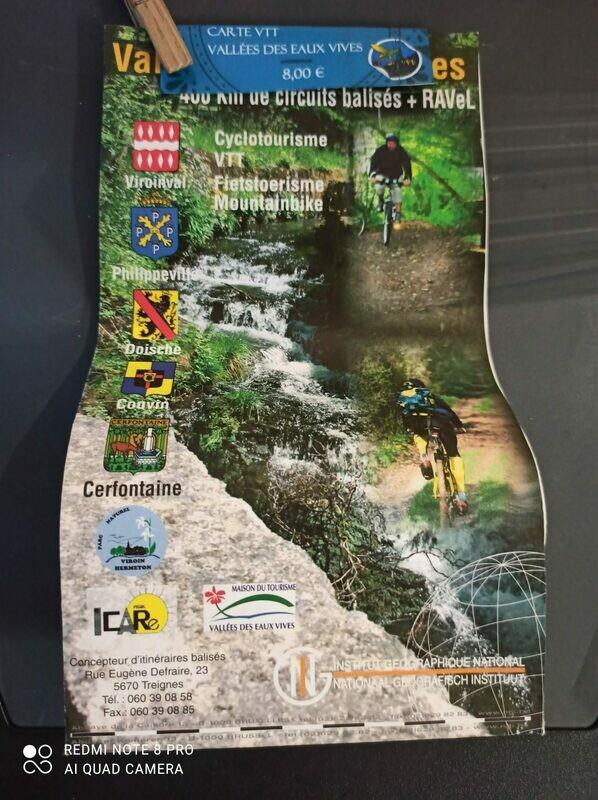 Carte itinéraires VTT Vallées des Eaux Vives