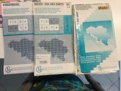 Carte topographique 57 7-8 Chimay (Est) - Couvin