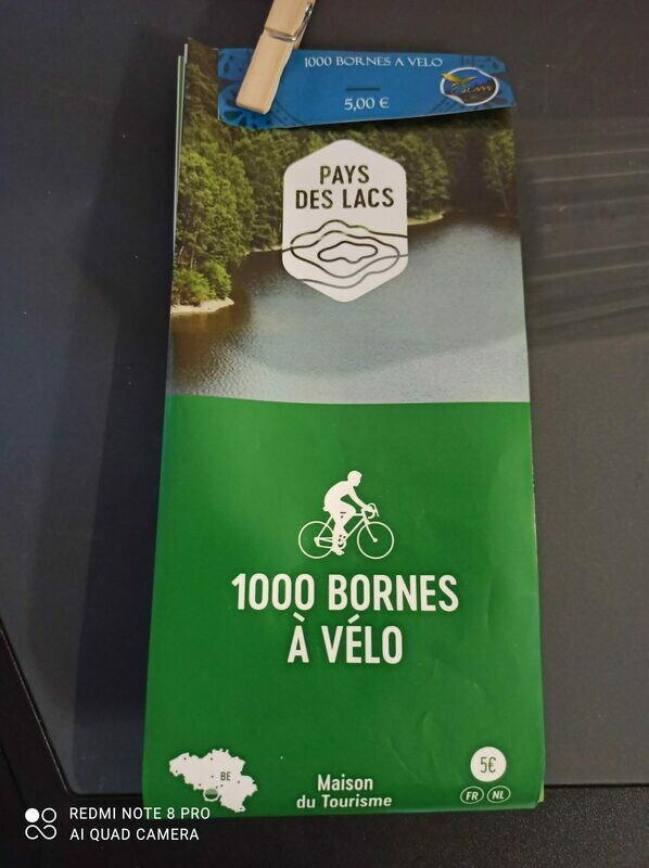 Carte 1000 bornes à vélo (réseau point-noeud vélo)