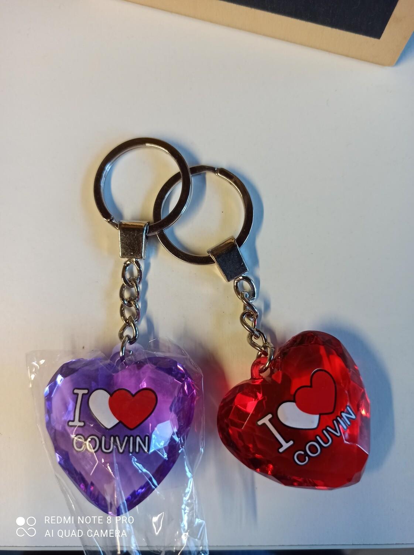 Porte clé coeur Couvin