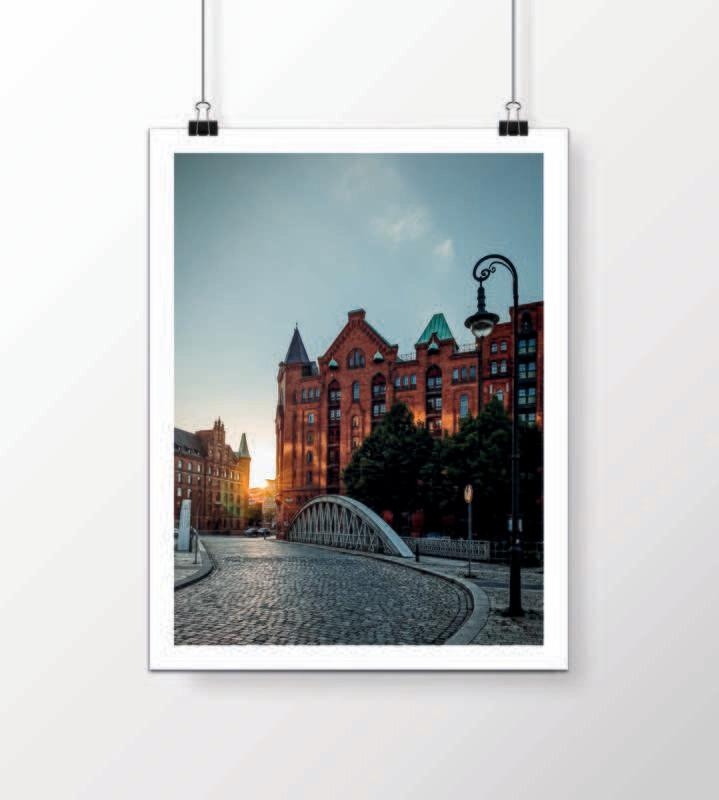 Fine Art Print - Sonnenuntergang Speicherstadt