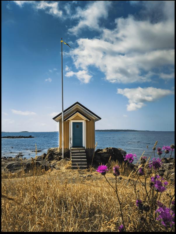 Poster - Skane Gelbe Fischerhütte