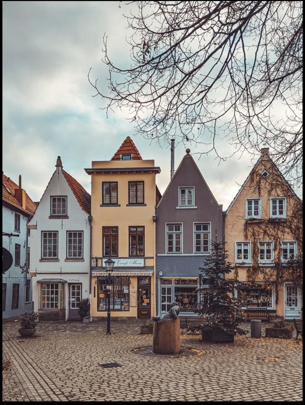 Poster - Bremen Lebkuchenhäuser