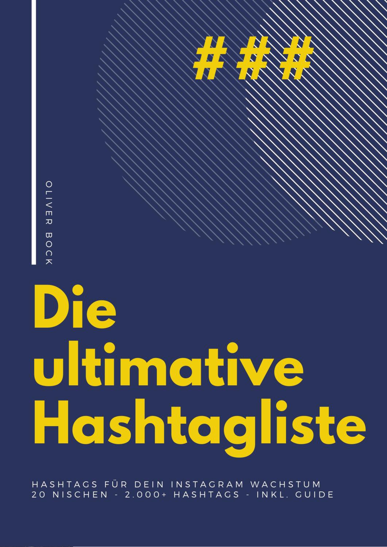 Ultimative Hashtagsliste & Hashtag-Guide