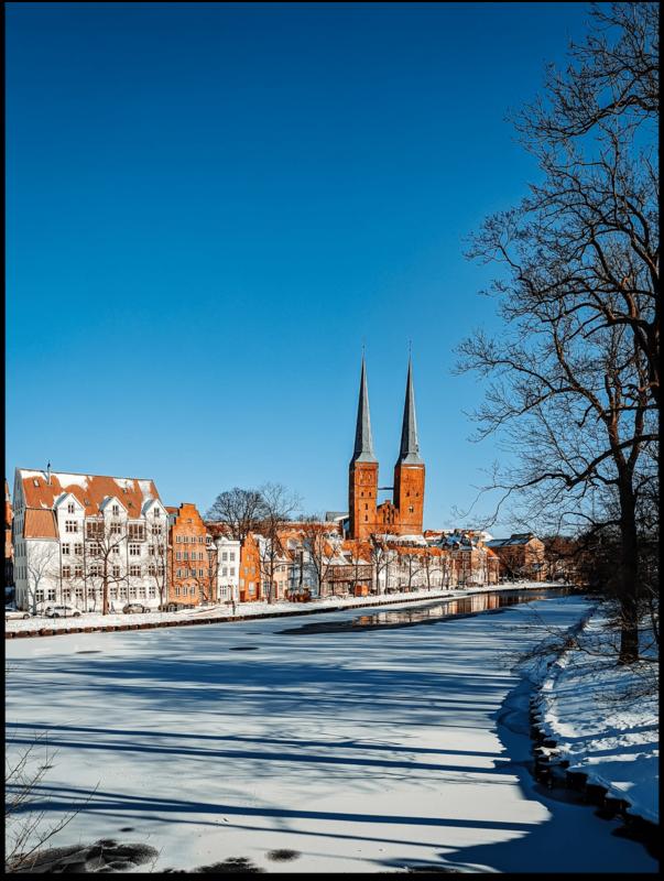 Poster - Lübecker Malerviertel im Winter