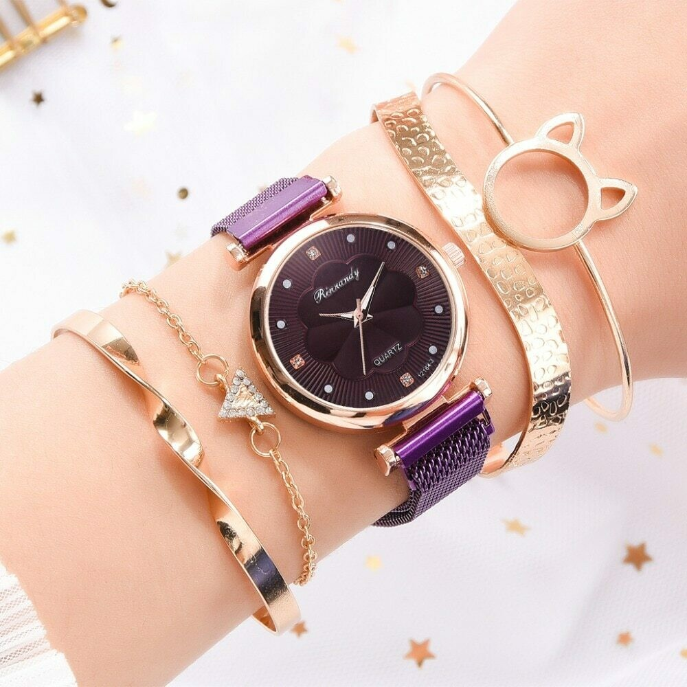 Luxury Magnetic Buckle Quartz Wrist Watch