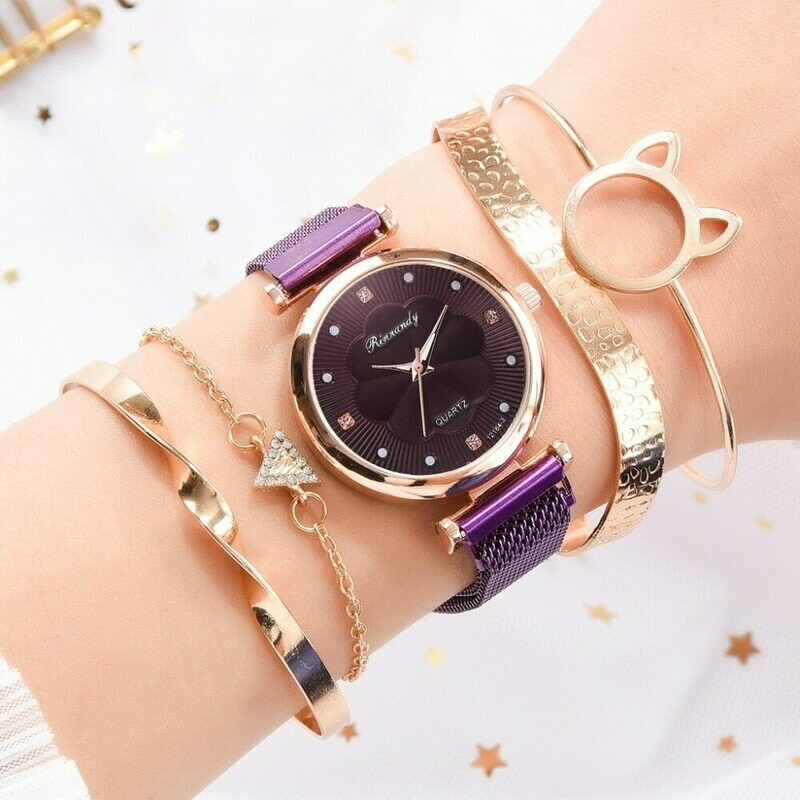 Luxury Magnetic Buckle Quartz Wrist Watch