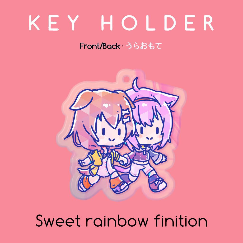 Hololive's Okayu & Korone Keychain