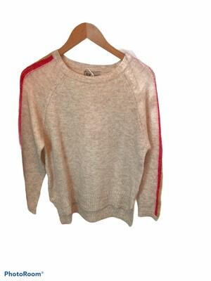 Pullover Streifen Arm beige