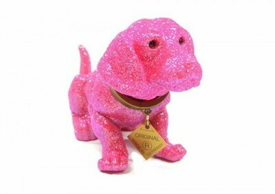 Wackeldackel 19cm pink Glitzer