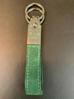 Schlüsselanhänger Green Wildleder