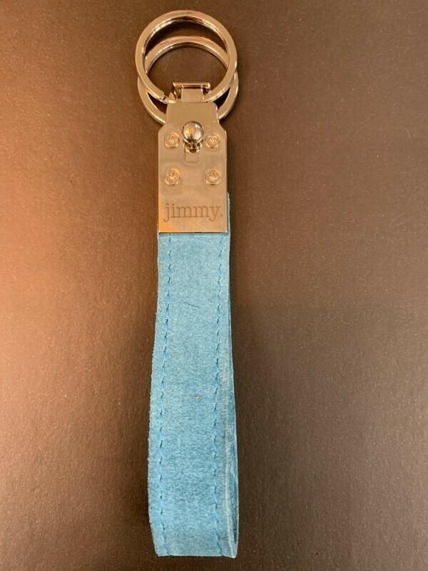 Schlüsselanhänger Blue Wildleder