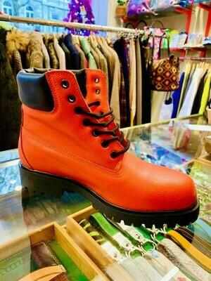 Boots orange Leather