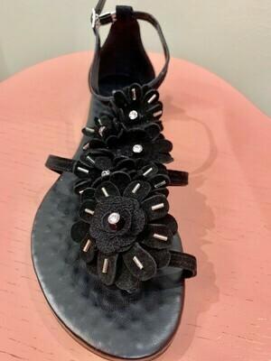 Sandale Flower black