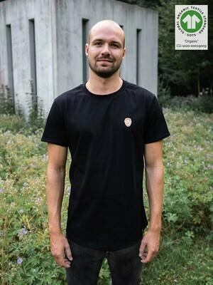 Löwen Print Herren T-Shirt schwarz – 100% Biobaumwolle
