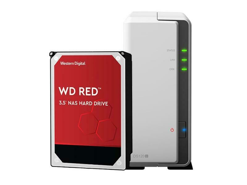 Synology NAS DiskStation DS120j 1-bay WD Red 1 TB