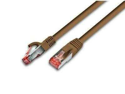 Wirewin Câble de raccordement Cat 6, S/FTP, 15 m, Brun