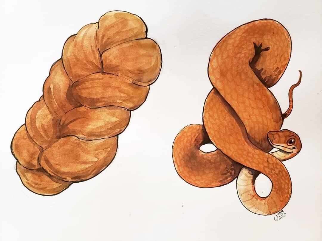 PreOrder Snake Bread Print 5x7