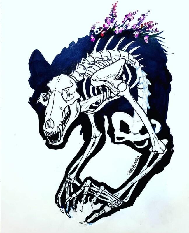 PreOrder Were Skeleton Print 5x7