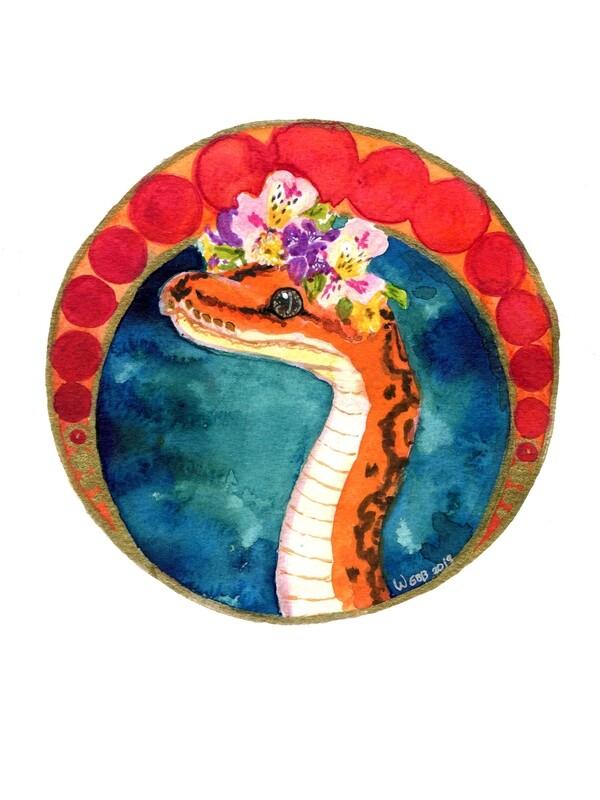 Nouveau Snake Print 5x7