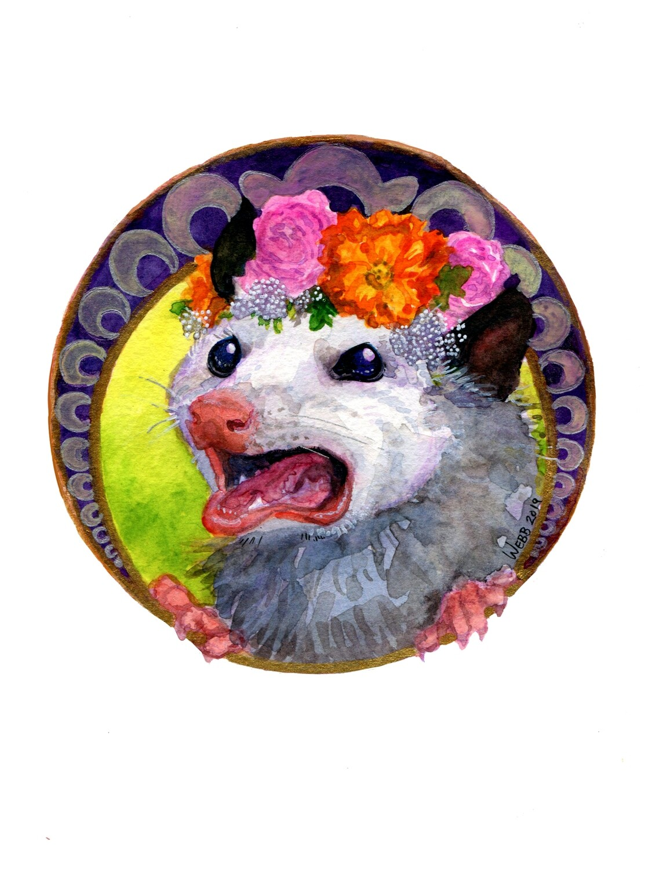 Nouveau Opossum Print 5x7