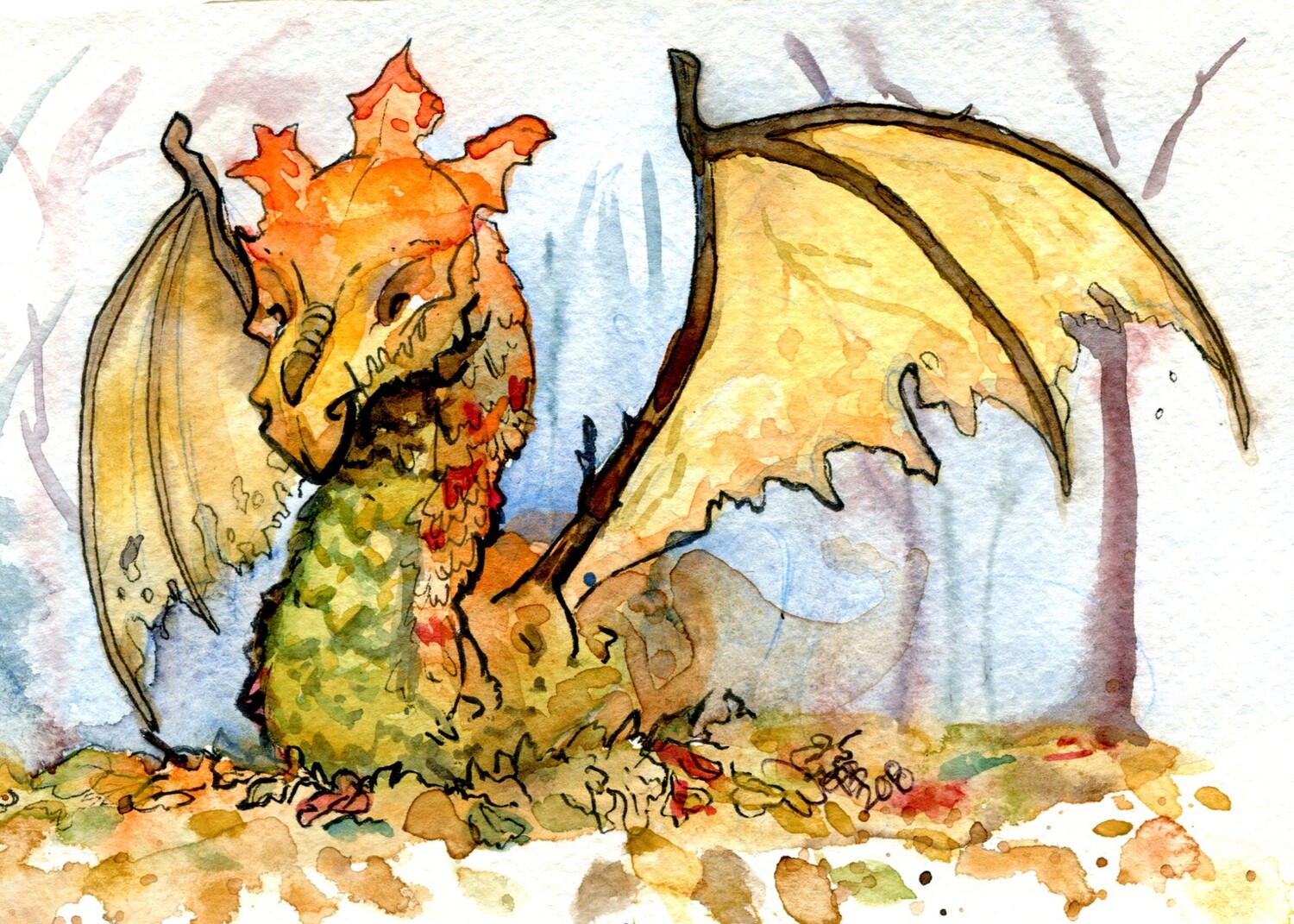 Leaf Dragon Print 5x7