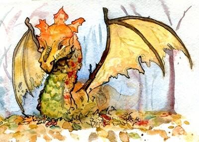 Leaf Dragon Print 5x7