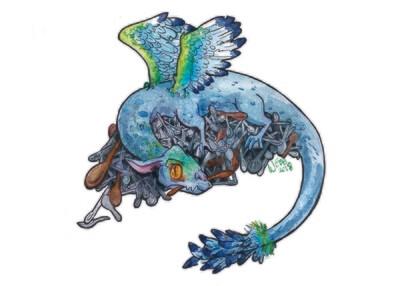 Spoon Dragon Print 5x7