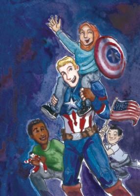 Steve and Kids Print 5x7