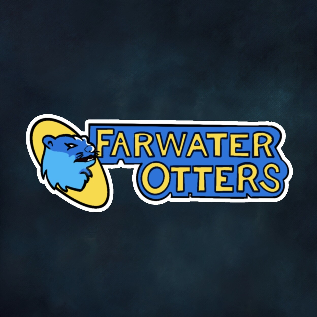 Far Water Otters Sticker