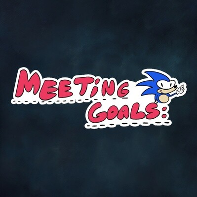 Meeting Goals Sticker