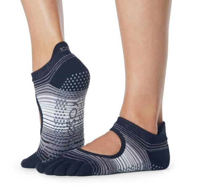 ToeSox Full Toe Bellarina Grip Socks In Static