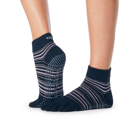 ToeSox Full Toe Ankle Grip Socks In Earthly